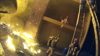MUST-SEE VIDEO: Firefighter catches child thrown from burning building