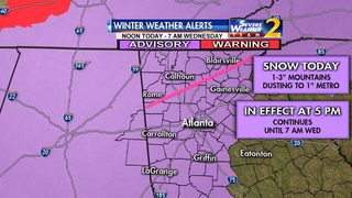 Snow, dangerously cold air on the way to north Georgia, metro Atlanta