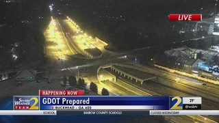 GDOT crews say they pre-treated hundreds of miles of roads for winter weather