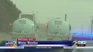 GDOT works to keep brine tanks full for winter weather