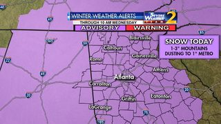 Winter Weather Advisory expanded, extended as storm moves toward north Georgia