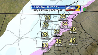Snow possible across north Georgia, metro Atlanta today