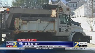 DeKalb crews working long hours to treat roads from winter weather