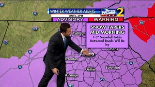 Snow continues Wednesday morning