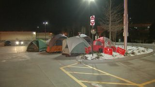 30 CEOs camp out in freezing temps to urge revitalization of city