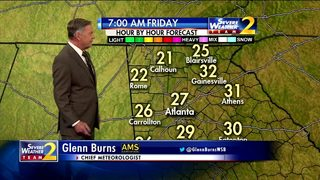 Brisk start to your Friday morning