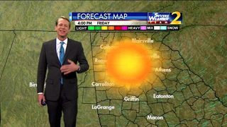 Lots of sunshine, temperatures above freezing early Thursday evening