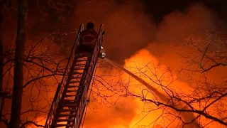 Fire destroys home of dozens on one of the coldest days of the year