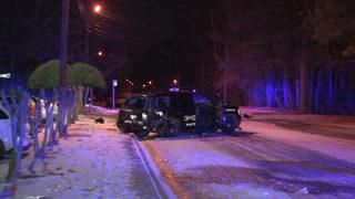 Black ice to blame for crash involving officer, police say