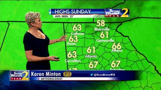 Sunny skies, temperatures in lower 50s Friday afternoon