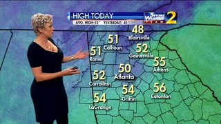 Temperatures to climb to middle 50s Friday afternoon