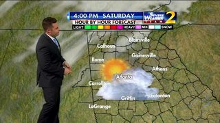 Most of metro Atlanta will be in the 60s Saturday