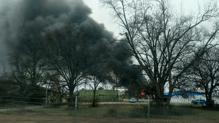 4-alarm fire reported at plant near airport
