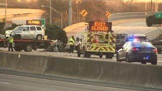 1 dead, 6 hurt in 3-car crash on I-20 eastbound