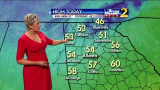 Temperatures in the 50s Tuesday morning