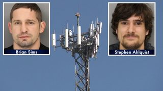 2 daredevils charged after police spot them jumping from cell tower
