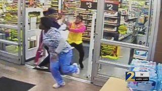 4 people in scrubs caught on camera robbing Walmart