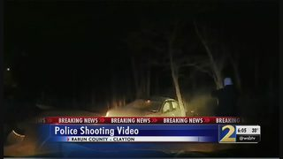 Dramatic video shows officer shoot, kill knife-wielding suspect after chase