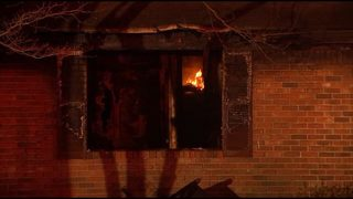 Man escapes fire that quickly burned through home