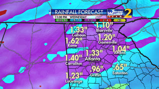 Rain, rain and more rain expected through the weekend