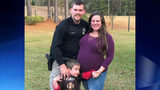 Officer Chase Maddox, 26, was killed Friday in the line of duty. He leaves behind a wife - who is pregnant - and a son.