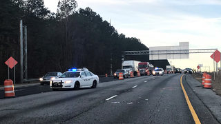 Construction worker hit on I-85 dies, police say