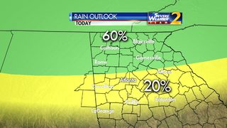 Wedge brings widespread showers to north Georgia