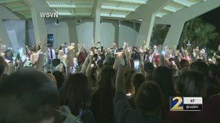 Vigil held for victims of Florida school shooting