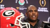 Georgia defensive coordinator Mel Tucker. (Curtis Compton/ccompton@ajc.com)