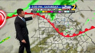 Scattered showers possible Saturday afternoon