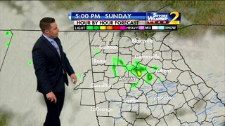 Cloudy, chance for light showers Sunday afternoon