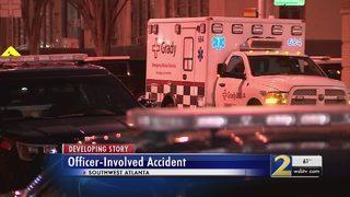 Atlanta police officer injured in four-car crash