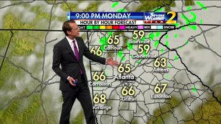 Mild, cloudy night ahead for your Monday