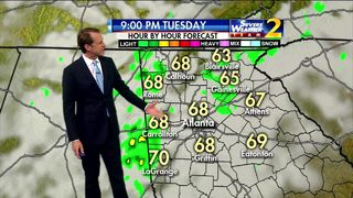 Scattered showers, mild temps for your Tuesday night