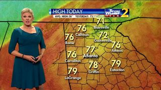 Chance for isolated showers Wednesday morning