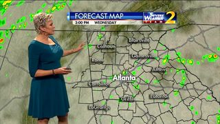 Lots of clouds, scattered showers possible Wednesday afternoon