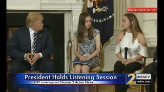 President holds emotional meeting with students, parents in wake of school shooting
