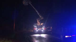 Crash brings down power lines, causing outages in northwest Atlanta