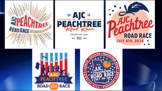 T-shirt design finalists released for the 2018 AJC Peachtree Road Race