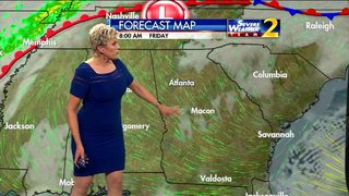 Partly cloudy, temperatures in upper 70s Friday afternoon