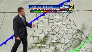 Line of showers move through metro Sunday morning