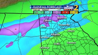 Scattered showers continue, more rain expected Monday