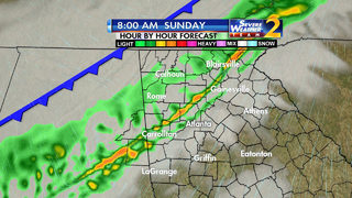 Showers, isolated storms moving toward metro Atlanta