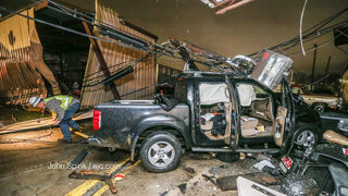 Woman crashes into DeKalb business, walks away unharmed, witnesses say