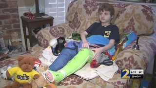 6-year-old hit by car in crosswalk returns home