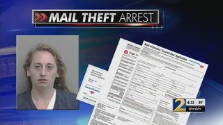 Police arrest woman accused of stealing hundreds of pieces of mail