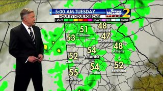 Approaching cold front brings rain overnight
