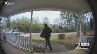 Deputies search for man who stole package off front porch of home