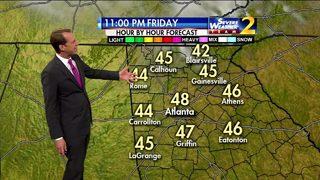 Rain to move into north Georgia on Saturday