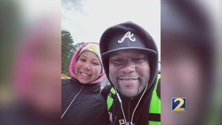 Man marks major milestone in trek to Memphis